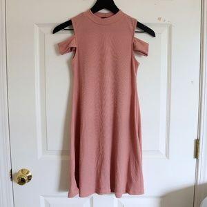 Small ASOS Daisy Street Pink Cold Shoulder Dress